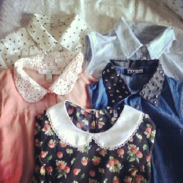 dress romwe shirt perter pan collar