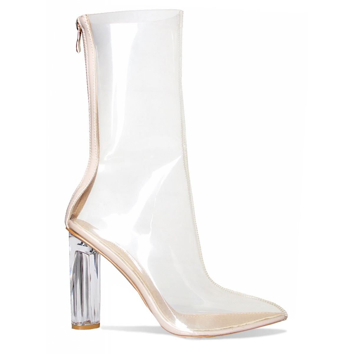 noelle clear perspex pointed ankle boots simmi shoes