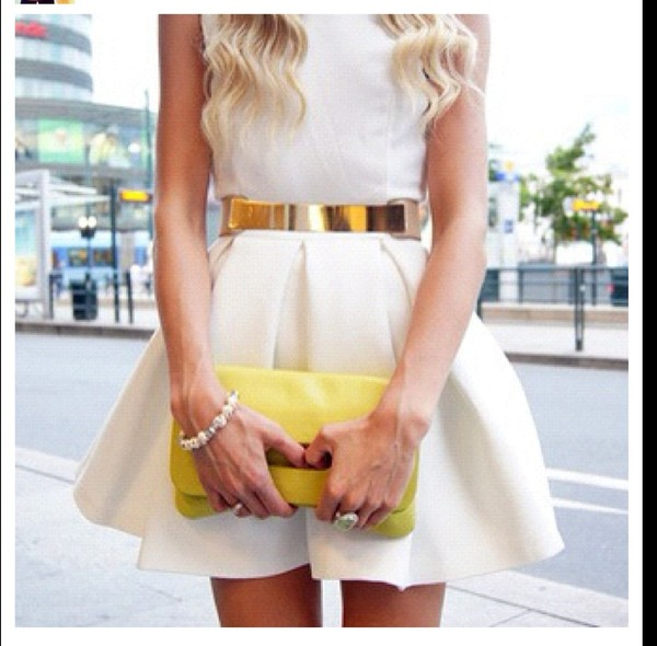 belt waist belt aqua skirt white dress bag bag dress cute dress cute dress