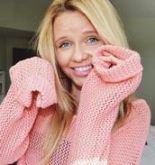 sweater,pink,alli simpson