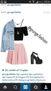 skirt,pastel shirt,pastel,rose,pink,skater skirt,grunge,top