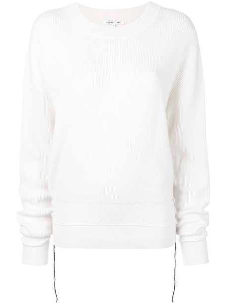 Helmut Lang sweater women nude cotton wool knit