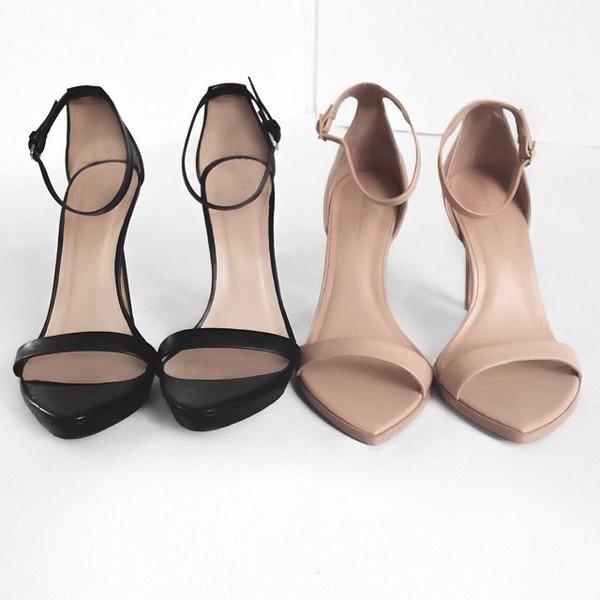 d9b6f19af9b pointy heels nude strappy basic sandals heeled sandles black heels