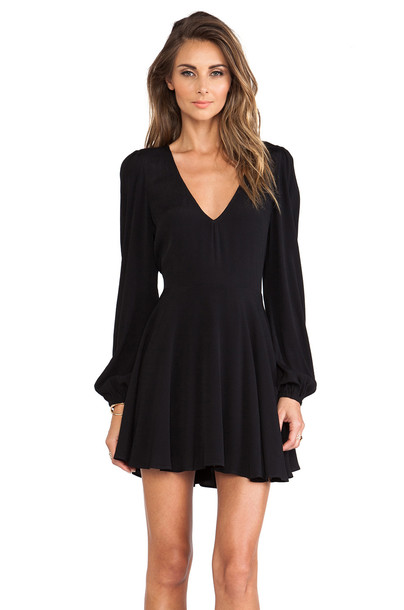 Lovers + Friends dress black