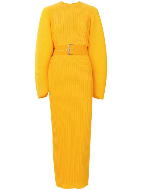 Solace London dress pleated dress pleated women yellow orange