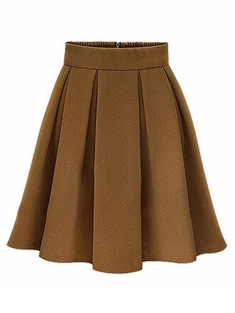 skirt fashion brown trendy fall outfits midi skirt autumn/winter newchic