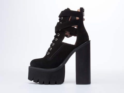 Jeffrey Campbell Abner in Black Nubuck at Solestruck.com