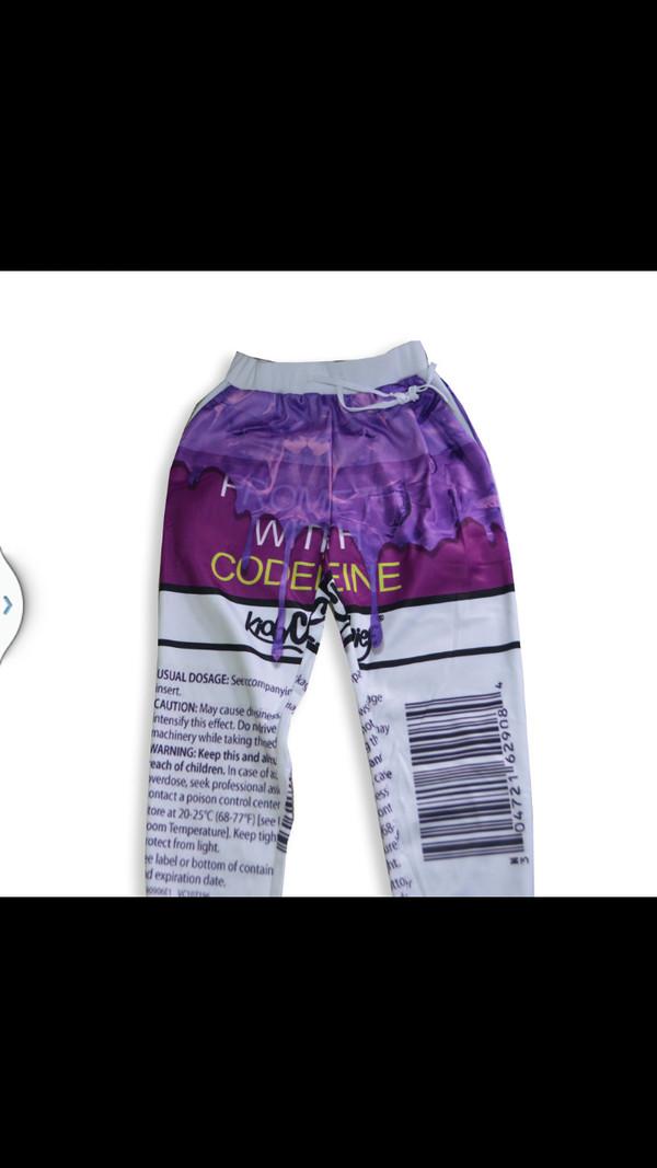 pants purple pants codine blunts live pants