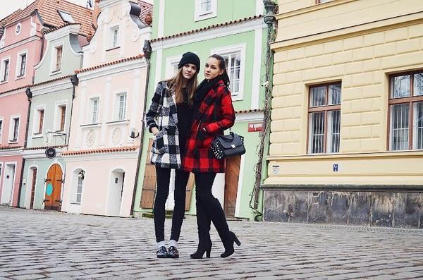 leona meliskova coat jeans shoes bag