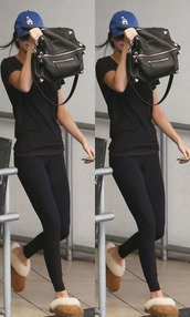 bag,slippers,leggings,kendall jenner,hat,shoes,los angeles,l.a