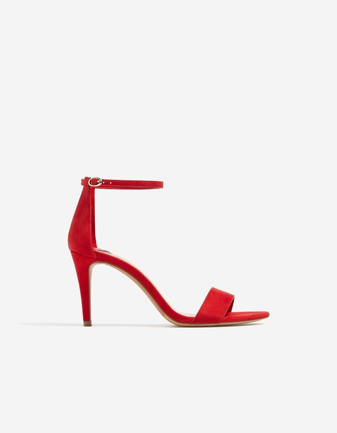 Stradivarius red sandals sandals heels red shoes