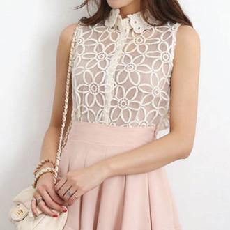 crochet blouse croche top ishopcandy floral floral top transparent top lace lace top