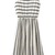 White Stripes Sleeveless Chiffon Dress