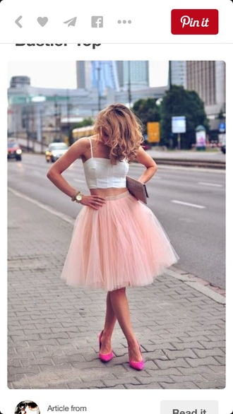 top crop tops white crop tops crop top bustier tulle skirt chiffon skirt midi skirt skirt