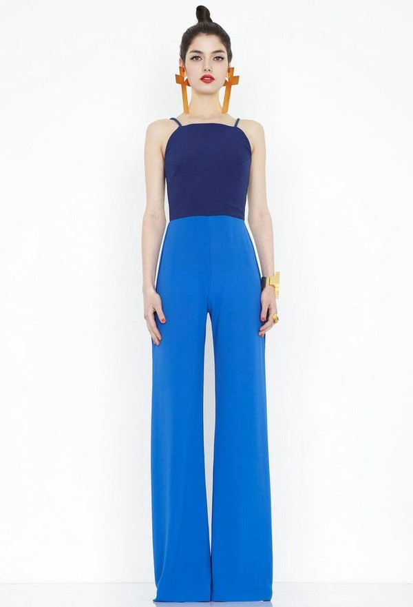 Divine Blue Wide Leg Jumpsuit Aqua by aqua : AQ/AQ Formerly Aqua