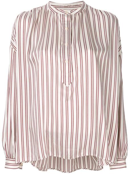 Isabel Marant shirt women nude silk top