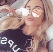 sunglasses,mirrored sunglasses,mirror,fancy,gold sunglasses