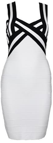 dress,dream it wear it,clothes,monochrome,black and white,white dress,black and white dress,bandage,bandage dress,bodycon,bodycon dress,sexy,sexy dress,party,party dress,elegant,elegant dress,classy,straps,celebrity,summer outfits,summer,summer dress,girly,romantic summer dress,pool party