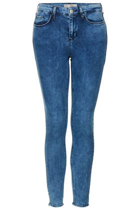 MOTO Mottled Bleach Leigh Jeans - Jeans  - Clothing  - Topshop