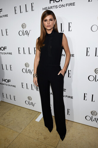 jumpsuit pants top maria menounos black