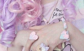 jewels ring cute food bracelets sweet pastel