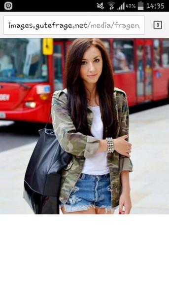 jacket camouflage military style