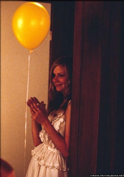 virgin suicides kirsten dunst white dress brown dress