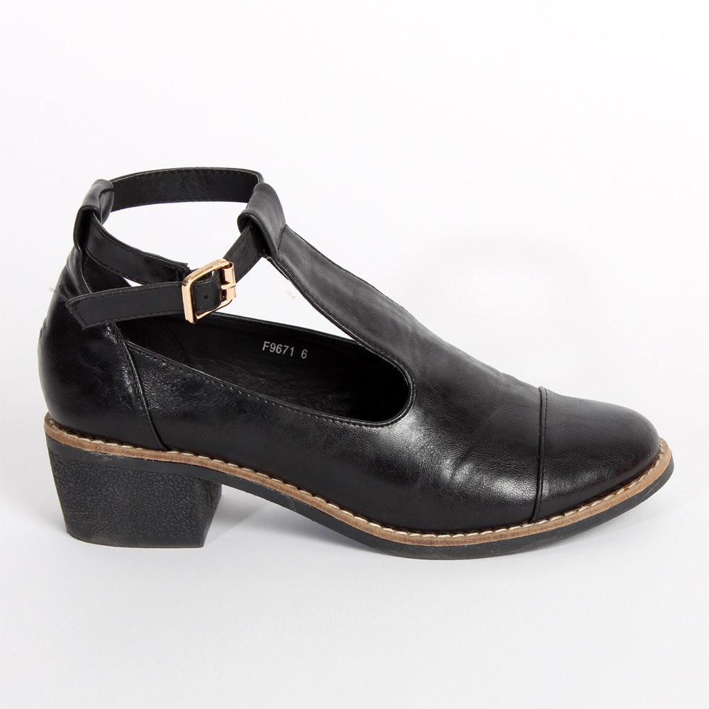 Ark for Women Ark Black T Bar Shoe