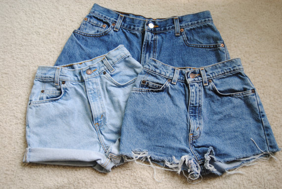 Vintage Denim High Waisted Shorts - The Else
