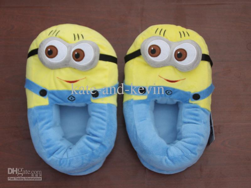 Buy despicable me minion plush stuffed slippers cuddly fluffy collectible dave 11, $11.6