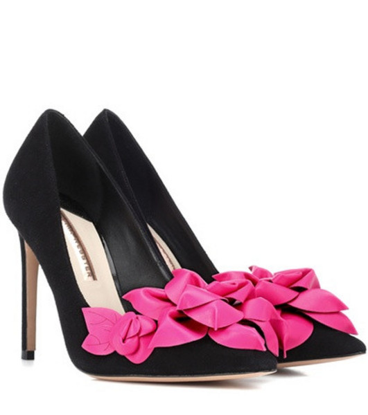 Sophia Webster Exclusive to Mytheresa – Jumbo Lilico suede and leather pumps in black