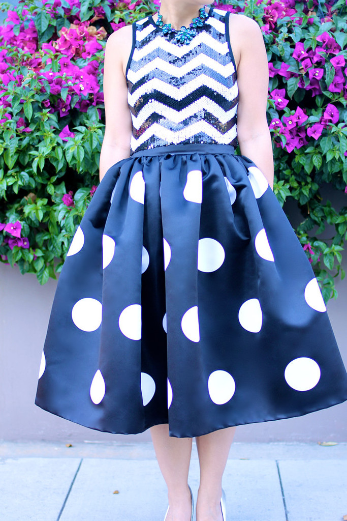 Connect The Dots Midi Skirt - KTRcollection