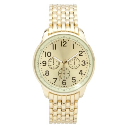 Merona® Gold Tone Extra Large Boyfriend Watch : Target
