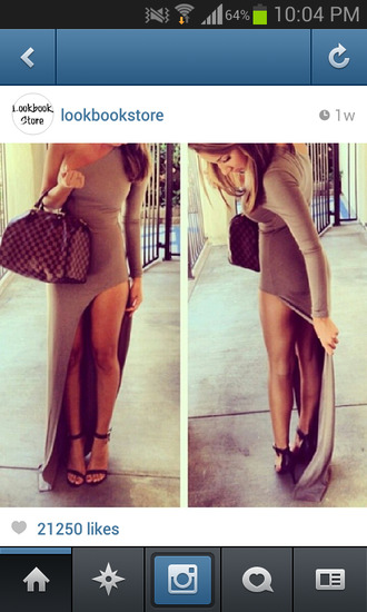 dress maxi dress cute dress one shoulder lookbook store