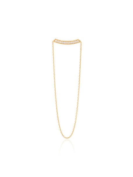 Yvonne Léon women earrings gold grey metallic jewels