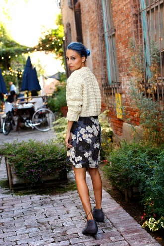 nicole richie skirt sweater