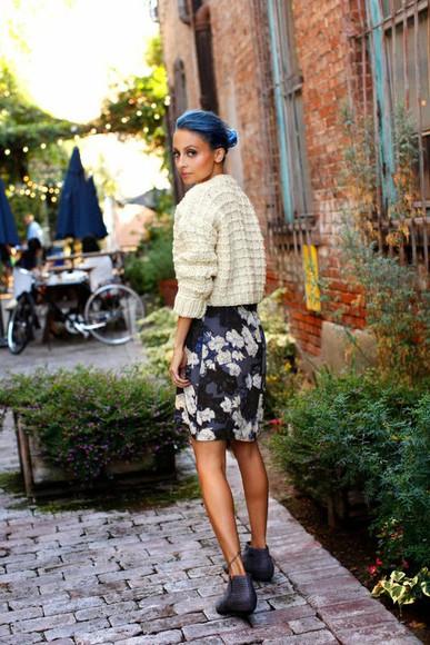 nicole richie skirt sweater