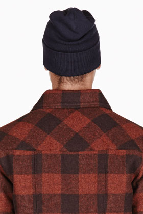A.P.C. Navy Blue Knit Carhartt Edition Beanie for men | SSENSE
