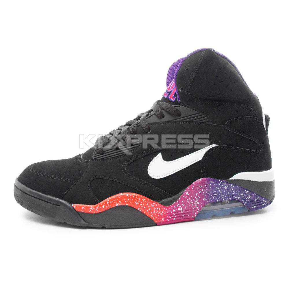 Nike New Air Force 180 Mid [537330-017] NSW Basketball Black/White-Purple-Pink | eBay