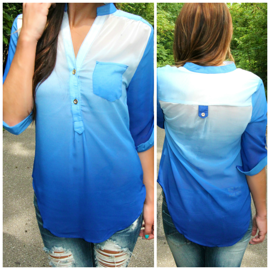 Blue Ombre Blouse 84