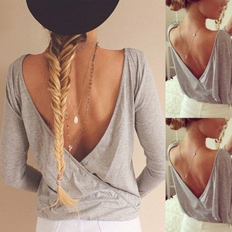 shirt grey grey top summer summer shirt summer outfits necklace jewerly hair indie boho bohemian grunge vintage hipster tumblr tumblr clothes grey t-shirt