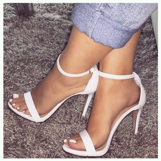shoes white low heel