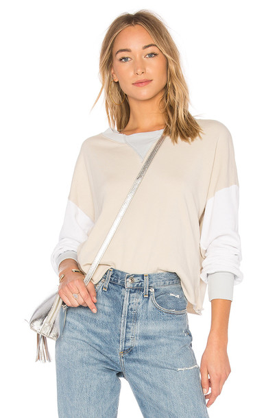 Wildfox Couture sweatshirt colorblock sweater