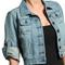 Mogan urban chic rolled 3 4 sleeve classic denim jacket blue washed jean shirts | ebay