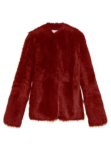 Raey coat red