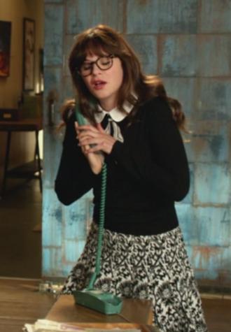 jess new girl zooey deschanel sweater skirt