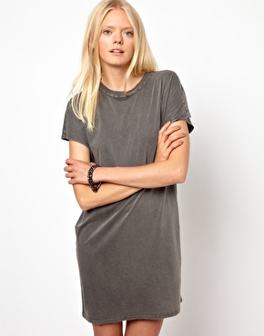 Won Hundred | Won Hundred Fleur Tee Dress in Acid Wash at ASOS