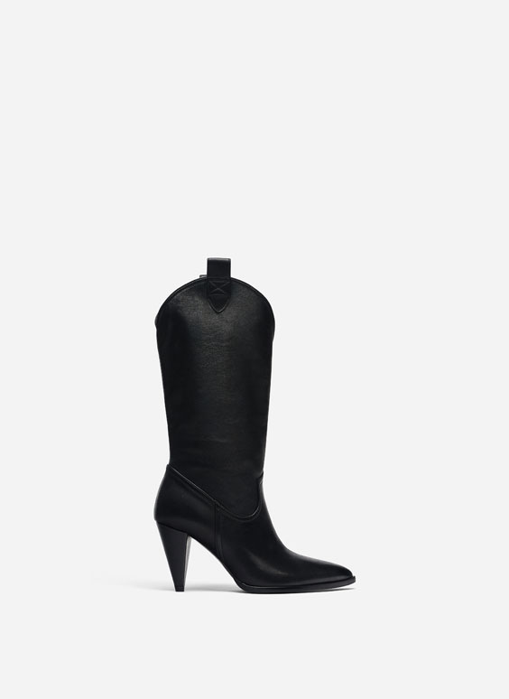 Black cowboy boots - Boots & Ankle Boot - Footwear - Uterqüe Italy