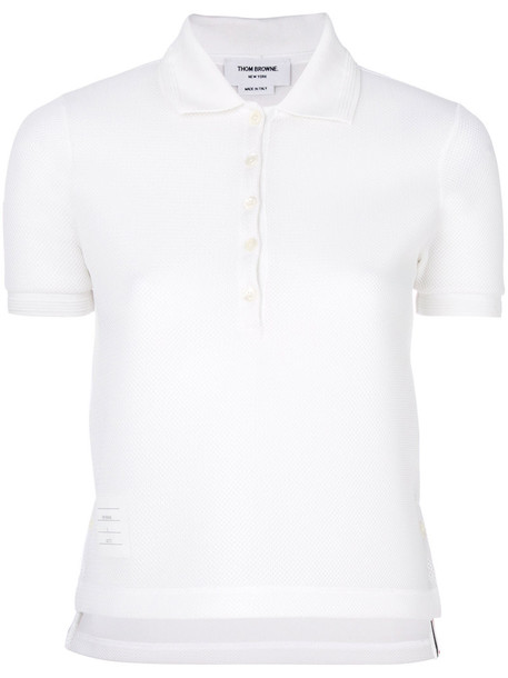 Thom Browne - Thom Browne x Colette polo shirt - women - Cotton - 38, White, Cotton