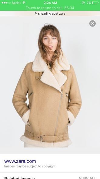 coat shearling jacket felt brown fur coat winter coat winter outfits instagram famous